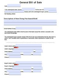 General Bill Of Sale Form Free General Bill Of Sale Template Microsoft Word Templates For