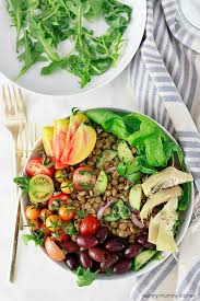 how to cook red and green lentils a beautiful healthy vegan lentil salad