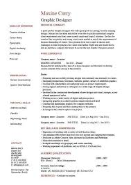 Resume Graphic Designer Examples Examples Of Resumes