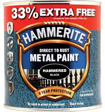 hammerite black 750ml 33 5158237