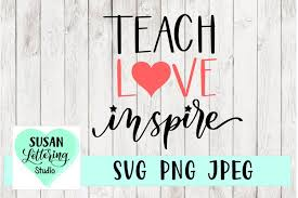 Download in svg and use the icons in websites, adobe illustrator, sketch, coreldraw and all vector design apps. Teach Love Inspire Teacher Love Heart Svg Jpeg Png 367608 Svgs Design Bundles