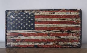 sp cp 518 the american flag license plates plate vintage metal tin sign wall art craft painting 15x30cm in plaques signs from home garden on  on american flag wall art wood and metal with sp cp 518 the american flag license plates plate vintage metal tin