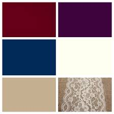 Rustic Color Schemes Wedding Color Scheme Burgundy Plum Navy Ivory And Khaki With