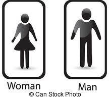 bathroom sign vector. Restroom Sign Man \u0026 Woman Symbol Vector Bathroom