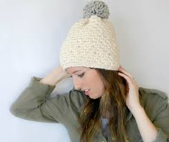 Bulky Yarn Crochet Hat Patterns Enchanting Ski Lodge Chunky Crochet Pom Hat Pattern Mama In A Stitch