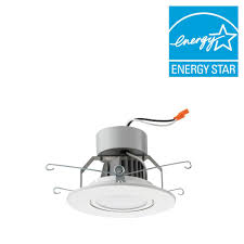 5 in brushed matte white led recessed downlighting gimbal module