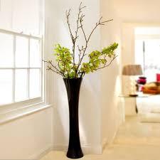 Big Flower Vase Design Cool Simple Black Floor Vase Design Filled With Adorable