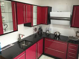 Red And Black Kitchen Dark Red Kitchen Units 11391620170513 Ponyiexnet Interesting