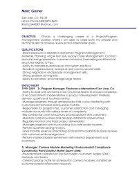 Program Management Resume Starengineering