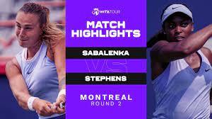 Aryna Sabalenka vs. Sloane Stephens ...
