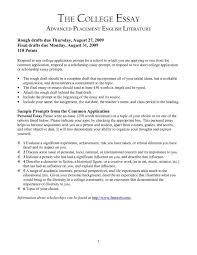 College Essays Examples Best Essay Admission Samples