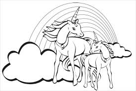 rainbow coloring pages. Beautiful Pages Rainbow Unicorn Coloring Page Inside Pages O