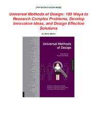 Complex Design Problems Universal Methods Of Design 100 Ways To Research Complex
