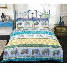 ethnic indian style duvet cover with elephant amp paisley print