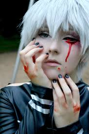 tokyo ghoul kaneki ken cosplay makeup tutorial yes i know that the ghoul eye is on the wrong side you