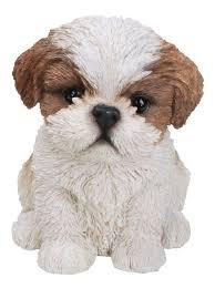 shih tzu puppy dog lifelike ornament