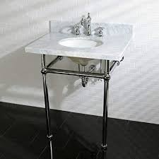 brass console sink. Perfect Sink Kingston Brass Vintage Carrara Marble 30inch Console Sink And Metal Stand  Silver Chrome Finish Inside S