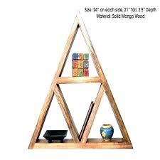 triangular wall shelves triangle shelf crystal display geometric oxidized wood case shadow target triangular wall shelves triangle d ins wooden