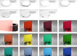 Lucite Color Chart Acrylic Plexiglass Color Chart