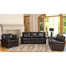 elegant abbyson living furniture design black leather abbyson living london 3 piece for luxury living