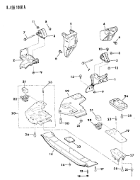1989 jeep cherokee engine mounting diagram 0000197i