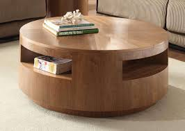 homelegance aquinnan round coffee table with casters natural in most recent circular coffee tables with