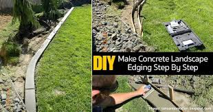 diy concrete edging 08312016 landscape