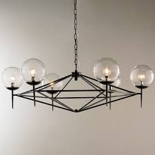 living endearing black modern chandelier 3 pyramid glass globes jpg c 1494597182 small modern black chandelier