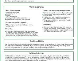 Resume Hobbies Section Types Hobbies Put Resume Snap Types Hobbies