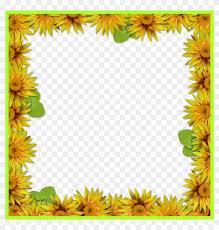 sun flower sunflower frame png incredible bie arrow sunflower border design 670234