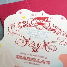 Carnival Birthday Invitations Carnival Birthday Invitations