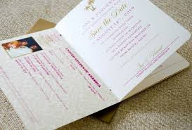 Save The Date No Photo Pink Gold And Ivory Passport Save The Date U S Seal