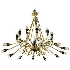 vintage italian brass chandelier 1