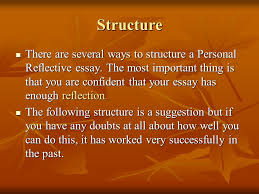 personal reflective writing ppt structure