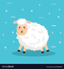 good night sleep cartoon sheep s vector image