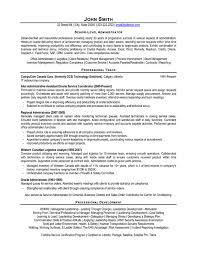 A resume template for a Senior-Level Administrator. You can download it and  make