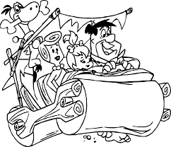 the flintstones coloring pages wecoloringpage