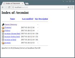 disable apache web directory listing