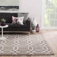 jaipur living bellevue handmade trellis light gray white area rug