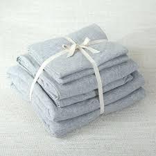 waffle knit duvet cover cotton jersey set elegant solid grey bedding sets double king size