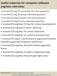 15 useful materials for computer software engineer resume samples for software engineers