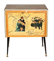1960s Record Cabinet 1960s Record Cabinet With Beatles Image To The Drop Down Front