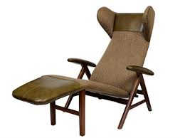reclining chaise lounge. Reclining Chaise Lounge Chair By Henry Walter Klein