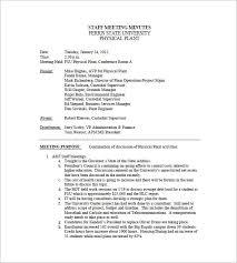 Sample Meeting Notes Staff Meeting Minutes Sample Rome Fontanacountryinn Com