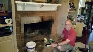 best way to clean creosotes off brick fireplace
