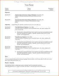Recent College Grad Resumes Recent College Graduate College Resume Template Good