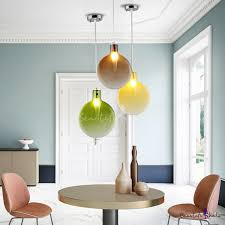 Flask <b>LED Pendant Lights Nordic</b> Style Hand Blown Glass Single ...