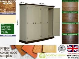 Pine Effect Bedroom Furniture Solid Wood Wardrobe White Painted Amp Waxed 4 Door Quad All