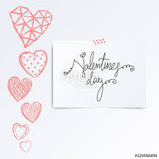 Half Heart Template Folded In Half Leaflet With Valentines Day Quote Mock Up