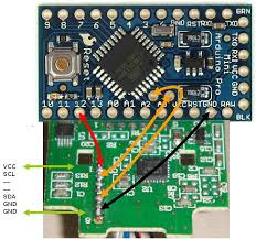 multiwii • view topic gyro not responding tried some different wirings based mainly on the connection diagram here but that refers to 6 pins on the arduino side of the wmp board where my board has